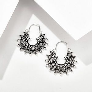 2/$20!  Silver Boho Openwork Ear Wire Earrings